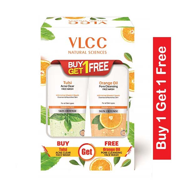 VLCC Tulsi Acne Clear + Orange Oil Pore Cleansing Face Wash