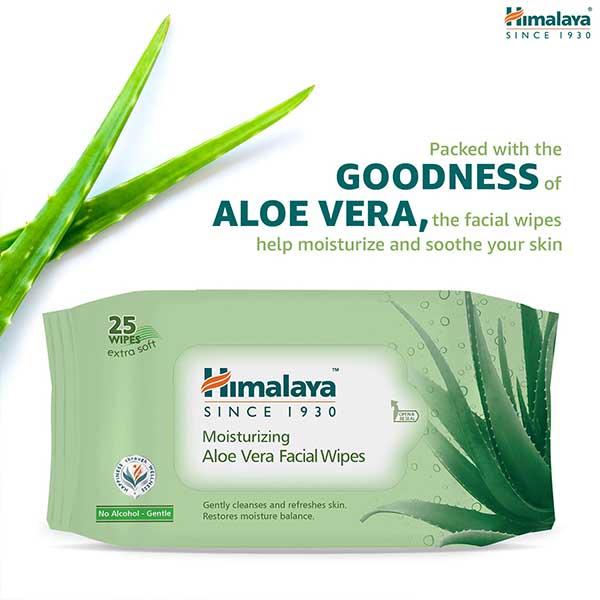Himalaya Moisturizing Aloe Vera Facial Wipes
