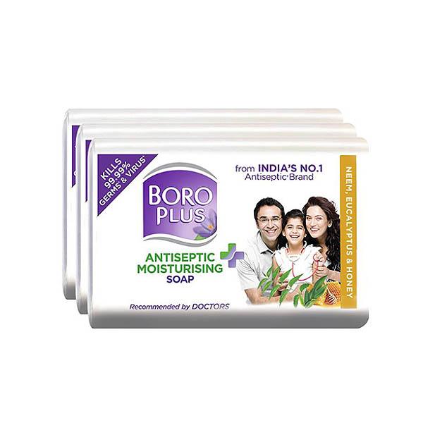 Boroplus Antiseptic Soap- Neem, Eucalyptus & Honey